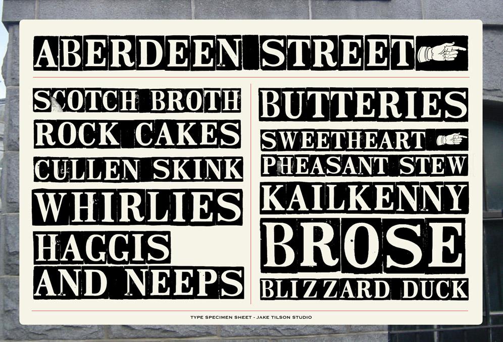 Jake Tilson Font Aberdeen Street